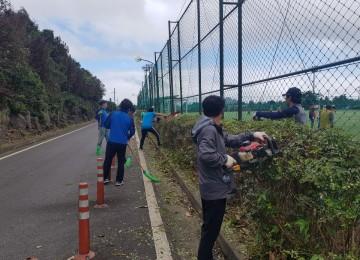 백록기축구대회 대비 경기장 환경정비
